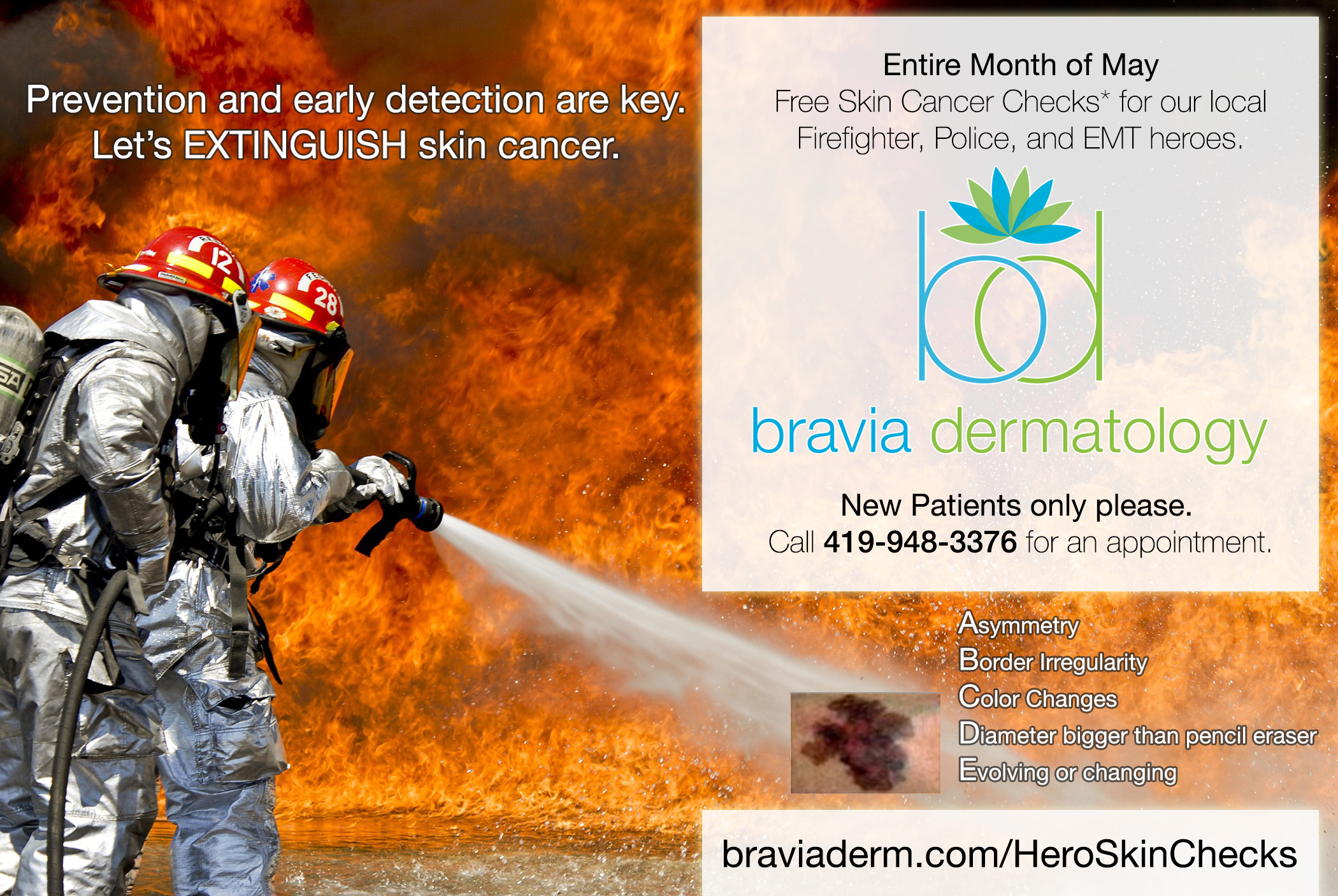 Hero Skin Checks at Bravia Dermatology in Toledo, Ohio - Free Skin Cancer Screenings